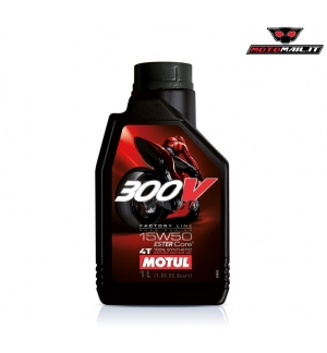 OLIO MOTUL 300V FACTORY LINE ROAD RACING 15W50 4T 100% SYNTHETIC SINTETICO