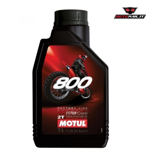 OLIO MOTUL 800 FACTORY LINE OFF ROAD 2T 100% SYNTHETIC SINTETICO