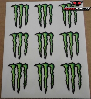ADESIVI MONSTER ENERGY 9 GRAFFI