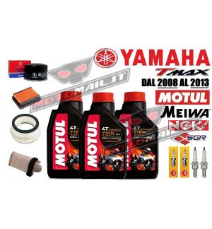 KIT TAGLIANDO YAMAHA T-MAX 500 DAL 2008 AL 2013 OLIO FILTRI CANDELE