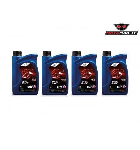 OLIO ELF MOTO 4 RACE 4T 10W60 100% SINTETICO MOTO 4 TEMPI 4 LITRI OFFERTA