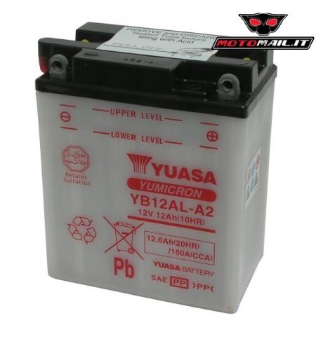 BATTERIA YUASA YB12AL-A2 12V 12AH 06512400 MOTO SCOOTER