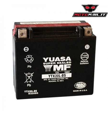 BATTERIA YUASA YTX20L-BS (SIGILLATA CON ACIDO A CORREDO) 12V 18AH 065209