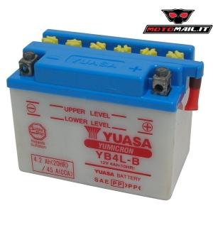 BATTERIA YUASA YB4L-B (SENZA ACIDO) 12V 4AH 06504340