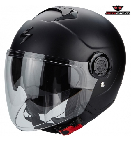 CASCO SCORPION EXO CITY EVO JET MATT BLACK NERO OPACO XS S M L XL XXL PARASOLE SCOOTER MOTO