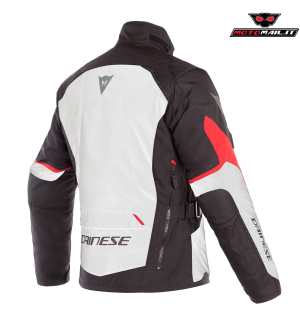 GIACCA DAINESE TEMPEST 2 D-DRY NERA BIANCA ROSSA 48 50 52 54 56 2019 IMPERMEABILE