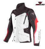 GIACCA DAINESE TEMPEST 2 D-DRY JACKET NERO BIANCO ROSSO
