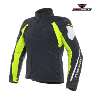 GIACCA DAINESE RAIN MASTER D-DRY NERA BIANCA GIALLA 48 50 52 54 2019 IMPERMEABILE