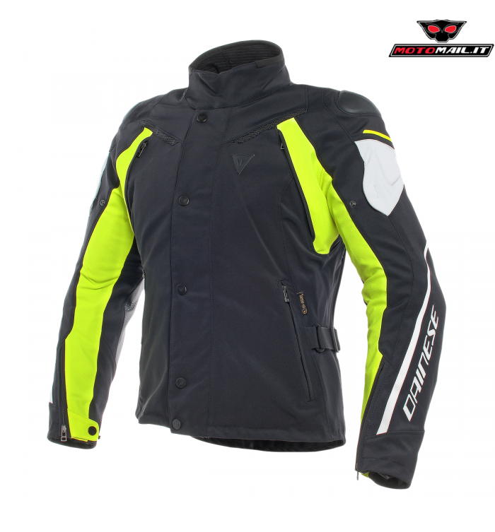 d10ee0c815 GIACCA DAINESE RAIN MASTER D-DRY NERA BIANCA GIALLA 2019 IMPERMEABILE