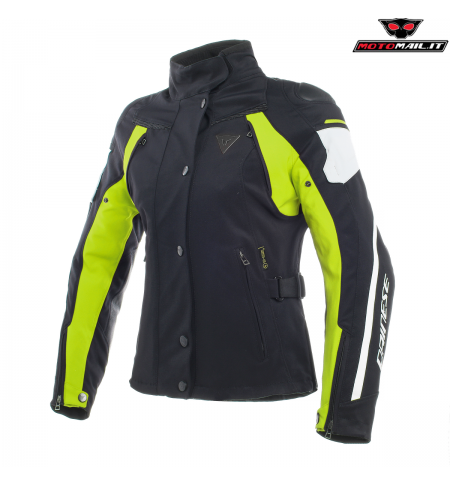 GIACCA DAINESE RAIN MASTER LADY D-DRY NERA BIANCA GIALLA 38 40 42 44 46 48 2019 IMPERMEABILE DONNA