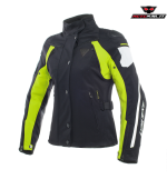 GIACCA DAINESE RAIN MASTER LADY D-DRY NERA GIALLA DONNA