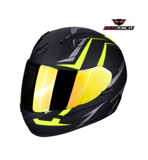 CCASCO INTEGRALE SCORPION EXO-390 HAWK NERO GIALLO OPACO MATT BLACK YELLOW S XS M XL L